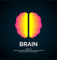 logo brain color silhouette vector image vector image