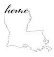 louisiana state map outline with home vector image