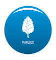 mangold icon blue vector image vector image