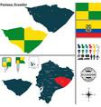 map of pastaza ecuador vector image vector image