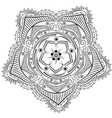 Monochrome Floral Background Hand Drawn Ornament w vector image