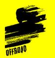 off-road car element vector image vector image