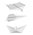 Origami aeroplanes boat vector image vector image