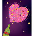 Party bottle background vector image
