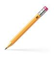 pencil with pink eraser vector image vector image