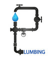 plumbing and pipeline design vector image vector image