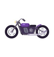 purple scooter design motorized motorbike icon vector image