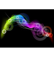 rainbow curves on the dark background vector image vector image
