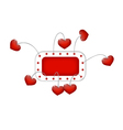 red frame with hearts vector image vector image
