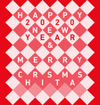 retro merry christmas and happy new year 2020 vector image vector image