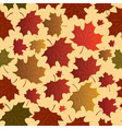 seamless maple leaves vector image