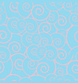 seamless pattern - pink circles vector image vector image