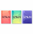 set minimalist gradient geometric cover design vector image vector image