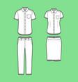 set of a blazer pants and skirt vector image