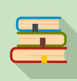 set of book icon flat style vector image vector image