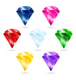 set of seven gems vector image