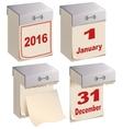 Set Tear-off calendar template