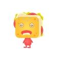 Sick Sandwich Character vector image
