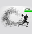 silhouette of a tennis player from particles vector image