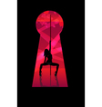 Silhouette of dancing girl vector | Price: 1 Credit (USD $1)