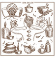 spa salon treatments sketch icons for woman vector image vector image
