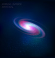 spiral galaxy cosmos object - vector image vector image