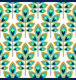 stylized leaf cyan blue seamless pattern vector image vector image