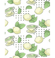 Tea with lemon nand-draw seamless pattern vector image vector image