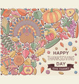 thanksgiving day greeting card in pastel color vector image