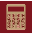 The calculator icon vector image