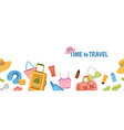 travel stuff banner tourism tourist luggage and vector image