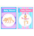 tumbling baand birthday newborn postcard vector image