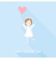 Valentines Day Card - Cupid Angel with Heart vector image vector image