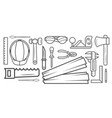 woodworking instrument black and white sketch vector image