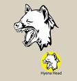 Hyena Head Logo vector image