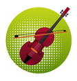 violin icon music instruments concept vector image