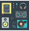 DJ icons vector image