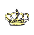 crown of queen hand drawn isolated icon vector image