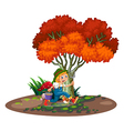 A happy young gardener vector image