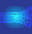 abstract blue line flow side data light motion vector image