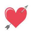 arrowed heart icon vector image vector image