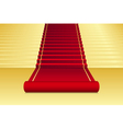 background with red Carpet vector image vector image