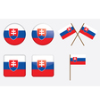 badges with flag of Slovakia vector image vector image