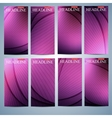 Big set of multicolored vertical backgrounds vector image vector image