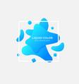 blue liquid color gradient vector image vector image