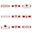 Canada Day realistic Banners Set vector image vector image