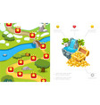 cartoon game level design composition vector image vector image