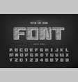 chalk font and bold alphabet hand draw square vector image vector image