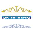 Color icon set with steel structures