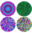 colorful rotary patterns vector image